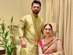 Disha Parmar and Rahul Vaidya celebrate first Karva Chauth in traditional ensembles, don't miss his note