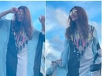 Bipasha Basu's Maldives lookbook is all about beautiful and vibrant Kaftans. Since the day the Bengali beauty reached the Maldives, the actor has only been wearing stylish designer Kaftans and has been acing all of them. Recently, she shared a few more stills of herself in a broad striped ruffled Kaftan.(Instagram/@bipashabasusinghgrover)