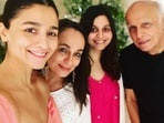 Soni Razdan with her family.
