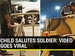 Twitter user claimed the viral video of a child saluting a security personnel is from Bengaluru airport (Twitter)