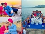 Is it just us or do Neha Kakkar and Rohanpreet Singh really do look like Rapunzel and Flynn Rider from Tangled? The couple rang in their first wedding anniversary in a romantic way on a boat and we are passing them off as a desi version of the Disney movie with 'I See the Light' playing on loop in our mind as we scroll through their mushy pictures.(Instagram/nehakakkar)
