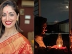 After an intimate wedding in the mountains this year, Bollywood actor Yami Gautam and director Aditya Dhar were evidently excited for their first Karva Chauth but the diva's happiness was uncontained as she gave a contemporary twist to the traditional mangalsutra and flaunted one from Bvlgari.(Instagram/yamigautam)