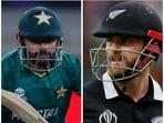 Pakistan vs New Zealand Live Score T20 World Cup 2021.(HT COLLAGE)