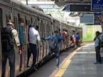 Mumbai local train: Full vaccination mandatory to travel in suburban service. (HT PHOTO)