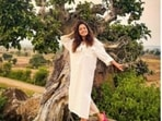 Nushrratt Bharucchais giving us major travel FOMO. The actor is currently in Madhya Pradesh and the pictures of her getaway are making their way on her Instagram profile. Her profile is replete with her ventures in Madhya Pradesh and each one of them are making her Instagram family drool like anything.(Instagram/@nushrrattbharuccha)