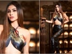Recently, Mouni Roy blessed our feeds with stunning pictures of herself in a cross wrap halter top, leather pants and thigh-high boots.(Instagram/@imouniroy)