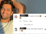 Vicky Kaushal posts a picture on social media, fans trolls him with wedding questions(Instagram)