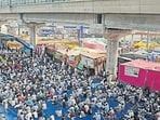 File image of farmers congregating at the Tikri border during the ongoing protest against the new farm laws, near New Delhi. (HT photo)