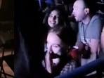 Priyanka Chopra and Sophie Turner at Jonas Brothers concert.