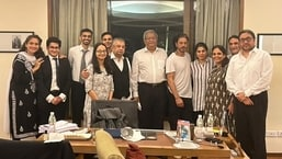 Shah Rukh Khan poses with team of lawyers after Aryan's bail in drugs case
