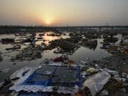 River Yamuna a day after Durga Puja