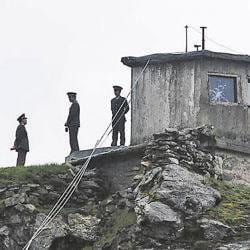 A file photo of the Chinese soldiers at Nathu La pass, Sikkim.