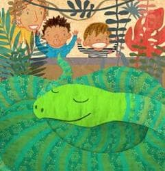 Ayeshe Sadr and Ishaan Dasgupta created a colourful world for Talon Wrestles An Anaconda, a book about a boy who visits the zoo and decides he wants to be like one of the zoo's powerful, mammal-chomping snakes.
