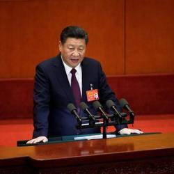 Chinese President Xi Jinping speaks during the opening of the 19th National Congress of the Communist Party of China at the Great Hall of the People in Beijing on October 18, 2017.