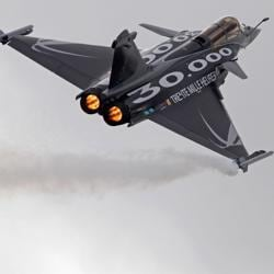 In this file photo, a Dassault Rafale fighter jet takes part in a flying display during the 49th Paris Air Show.