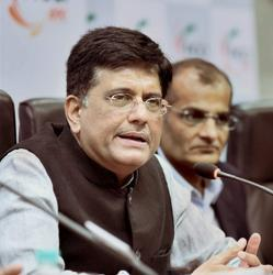 Railways minister Piyush Goyal speaks at a FICCI event in New Delhi on Tuesday.