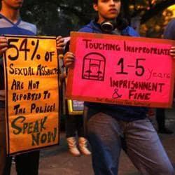 Delhi University students pay tribute on the second anniversary of the December 16 rape case, New Delhi