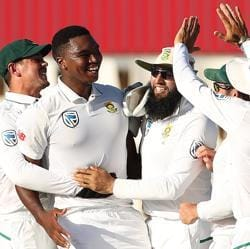 Lungi Ngidi celebrates the wicket of Virat Kohli on Day 4 of the second Test between SouthAfrica and India at Centurion. Follow highlights of India vs SouthAfrica, second Test, Day 4.