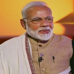 New Delhi: Prime Minister Narendra Modi speaks during an interview with Zee News TV channel telecast on Friday.