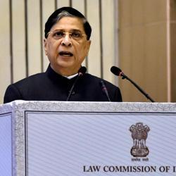 Chief Justice of India, Justice Dipak Misra addressing at the inauguration of the National Law Day, 2017 in New Delhi.