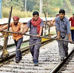 More than 18 million people have applied for 62,907 Group D positions, including those of track maintainers (top), and 4.75 million applications have been received for 26,500 Automotive Loco Pilot posts.