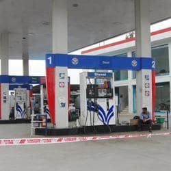 A view of a petrol pump in Amritsar.