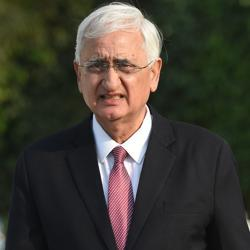 Former Union minister and Congress leader Salman Khurshid. The former Union minister was the chief guest at the annual function of BR Ambedkar Hall of the Aligarh Muslim University.