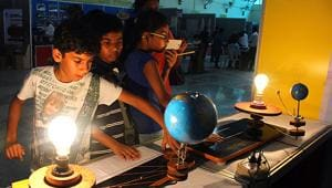 An innovation festival at Nehru Science Centre, Mumbai. It's a myth that entrepreneurs are born, not made. Look at Mark Zuckerberg, Steve Jobs, Bill Gates, Jeff Bezos, Larry Page, Sergey Brin, and Jan Koum. They didn't come from entrepreneurial families. Their parents were dentists, academics, lawyers, factory workers, or priests.(HT)