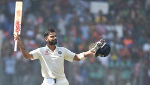 India's Test cricket captain Virat Kohli emerged the biggest sports icon in the world with 42.8% votes in the latest HT-MaRS Youth Survey.(Pratham Gokhale/HT PHOTO)