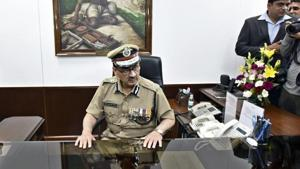 Alok Kumar Verma after taking over as the commissioner's post at the Delhi Police Headquarters February 29, 2016.(Arun Sharma/HT File Photo)