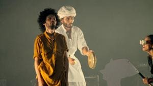 A rehearsal still from the play(HT Photo)
