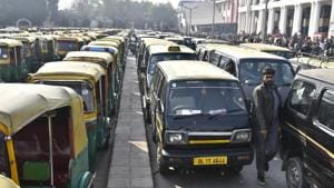 The transport department rules mandate that permits be given only to drivers with a good moral character and no criminal record in the past one year.(Sushil Kumar/HT PHOTO)