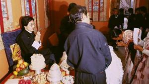 Wangchuk Namgyal was a crowned monarch before he gave up his throne 35 years ago.(Raghu Rai)