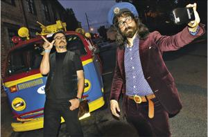 Songs by The Claypool Lennon Delirium, a collaboration between Les Claypool (left) and Sean Lennon, are a real treat on Endless Boundaries Jam Radio, a Philadelphia-based podcast(Getty Images)