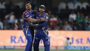 Mumbai Indians rode on Karn Sharma's four wicket-haul to beat Kolkata Knight Riders by six wickets in the second qualifier of IPL 2017 at the M Chinnaswamy Stadium. MI will face RPS in the final at Uppal on Sunday. Get full cricket score of Mumbai Indians vs Kolkata Knight Riders here(BCCI)