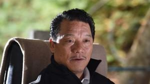 Bimal Gurung, supremo of Gorkha Janmukti Morcha and Chief Executive of Gorkhaland Territorial Administration, photographed at Kalimpong.(Hindustan Times via Getty Images)