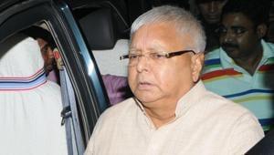 RJD president Lalu Prasad's residence was raided by the CBI on Friday morning.(Parwaz Khan/HT File Photo)