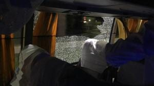 Australia cricket team bus attacked with rock in Guwahati