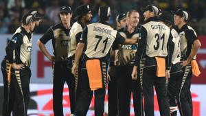 Full cricket score, India vs New Zealand, 2nd T20, Rajkot: NZ win by 40 runs, level series 1-1