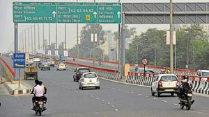 The overhead corridor was opened to the public in June to reduce vehicular congestion.(Virendra Singh Goasain/HT File Photo)
