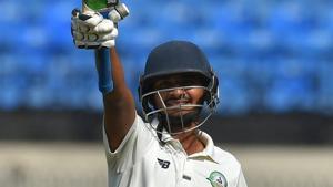 Akshay Wadkar's maiden ton has helped Vidarbha stretch their lead past 100 against Delhi. Catch full cricket score of Delhi vs Vidarbha, Ranji Trophy final, day 3 here.(PTI)