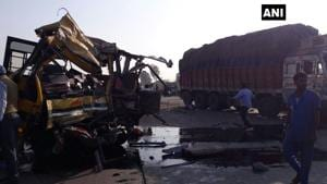 Four DPS Indore students, driver killed in bus-truck accident