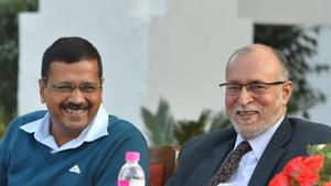 The Supreme Court on Wednesday started hearing the Arvind Kejriwal-led Delhi government's appeal against the Delhi high court verdict holding the lieutenant-governor — currently Anil Baijal — as the executive head of the National Capital.(PTI)
