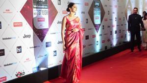Deepika Padukone arrives at the HT India's Most Stylish Awards.(HT Photo)