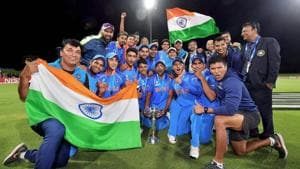 Coach Rahul Dravid guided Indian cricket team to title at the ICC U-19 cricket World Cup.(PTI)
