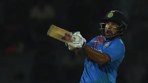 Shikhar Dhawan in action during the India and Bangladesh Nidahas Trophy tri-nation T20 match at the R Premadasa Stadium in Colombo. Get highlights of India vs Bangladesh here.(AFP)