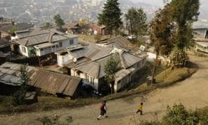 Condition of roads in Nagaland is among the worst in the northeast .(Samir Jana/HT FILE PHOTO)