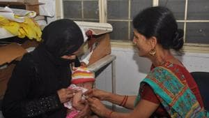 The state had achieved 99.30% immunisation as of 2015-16, says NITI Aayog in a report.(HT File)