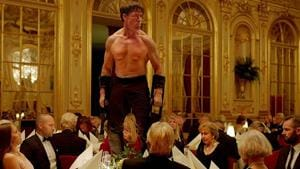 Terry Notary, who did motion capture work on the Planet of the Apes movies, revisits his chimp brain in the best scene of The Square.
