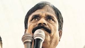 Jiva Pandu Gavit, CPI(M) MLA, leader of kisan long march(Pratik Chorge/HT PHOTO)